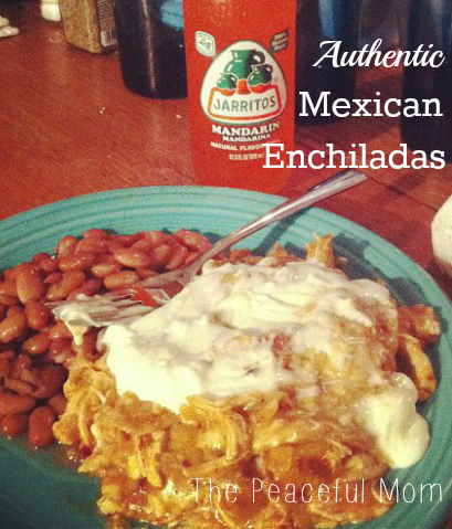 Authentic Mexican Enchiladas--The Peaceful Mom (2)