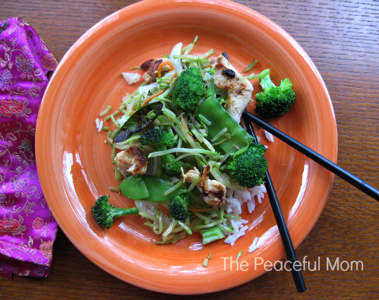Chicken Stir Fry--The Peaceful Mom