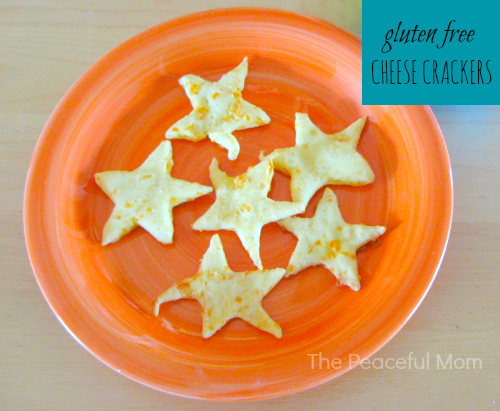 Gluten Free Cheese Crackers Recipe from The Peaceful Mom