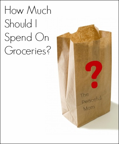 How Much Should I Spend On Groceries--The Peaceful Mom