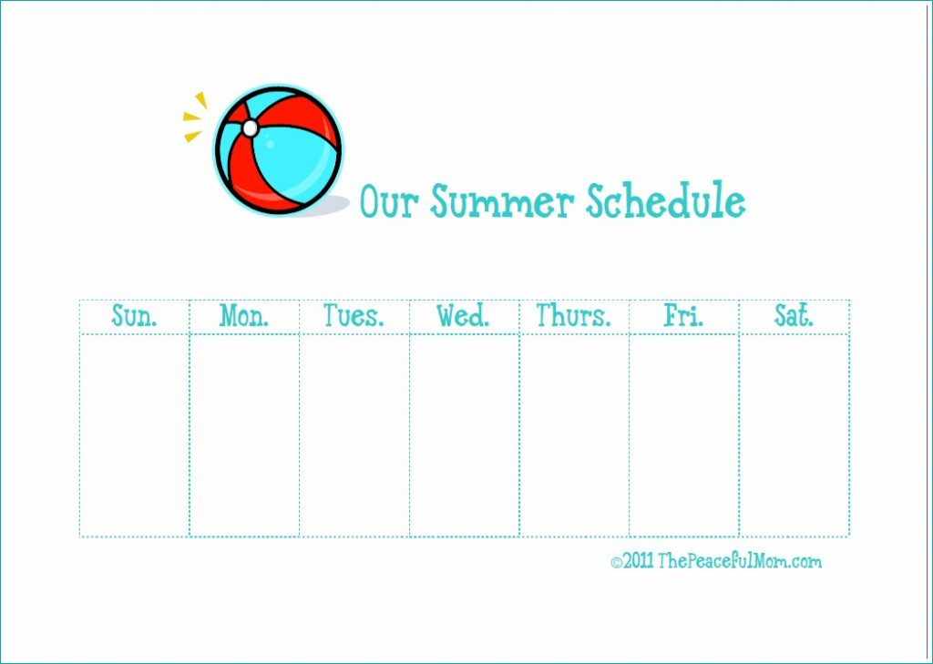 Summer Sanity Weekly Planner photo--The Peaceful Mom