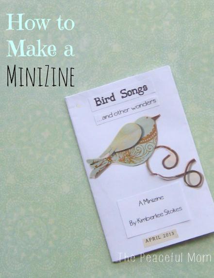 How To Make a MiniZine--The Peaceful Mom