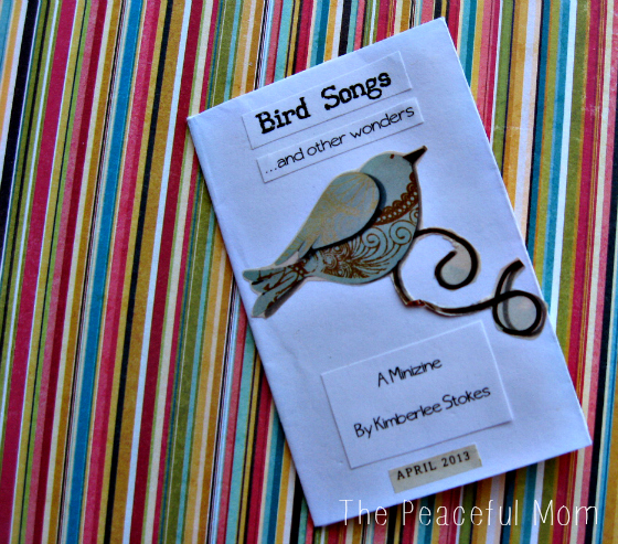 How to Make a MiniZine--Bird Songs--The Peaceful Mom