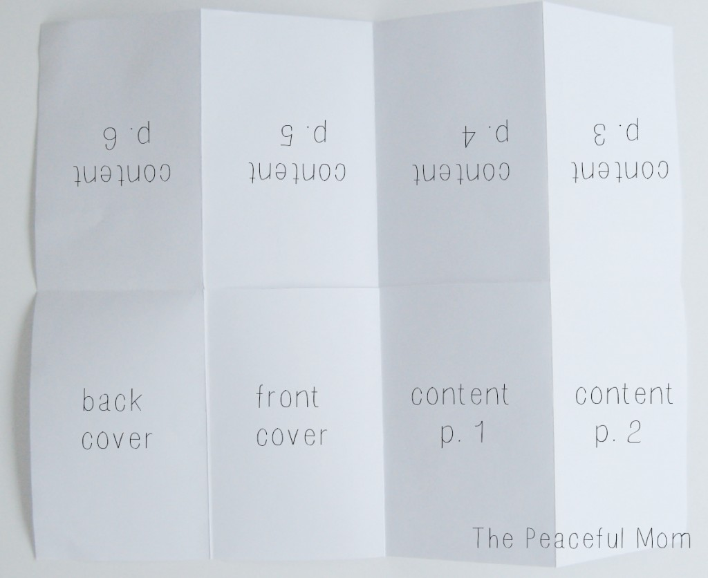How to Make a MiniZine--Page Numbers--The Peaceful Mom