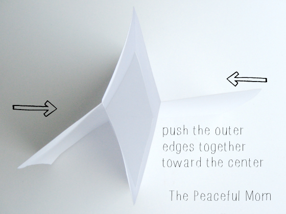 How to Make a MiniZine--Push the edges together--The Peaceful Mom