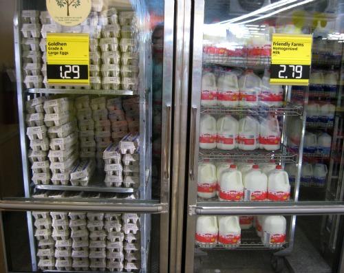 Aldi Milk and Eggs