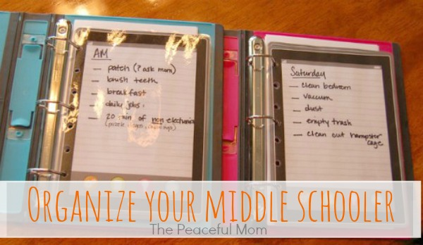 Back to School: Organize Your Middle Schooler - The ...