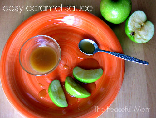 Easy Caramel Sauce--The Peaceful Mom