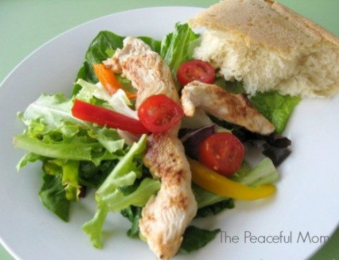 Salad with Italian Chicken--The Peaceful Mom