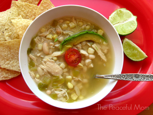 Southwest Chicken Chili--The Peaceful Mom.