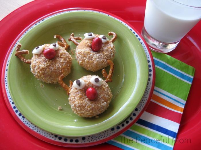 Reindeer Donuts plain--The Peaceful Mom