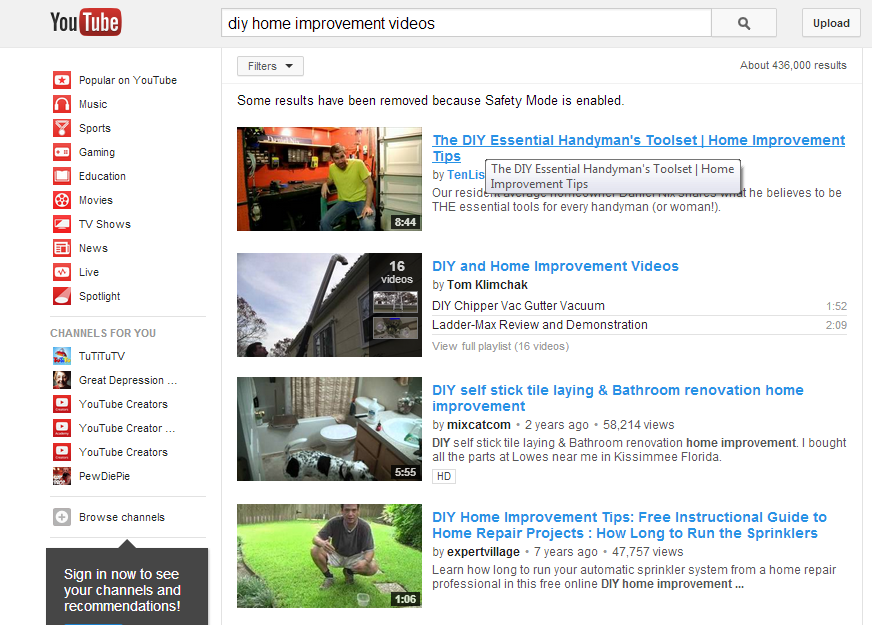 1 11 You Tube Screen