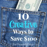 10 Creative Ways You to Save $100