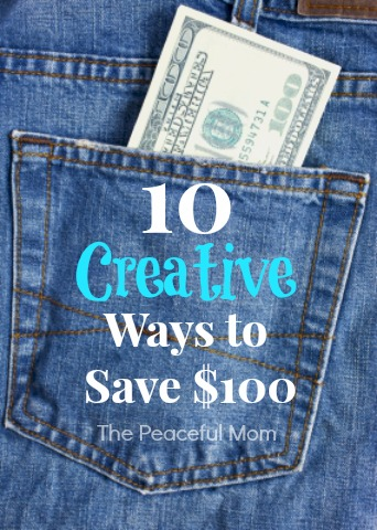 10 Creative Ways to Save $100 - The Peaceful Mom