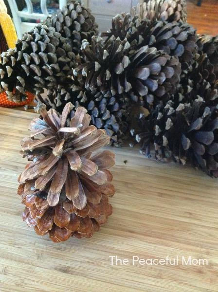 DIY Pine Cone Swag Step 1 - The Peaceful Mom