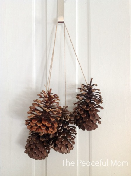 DIY Pine Cone Swag Step 3 - The Peaceful Mom