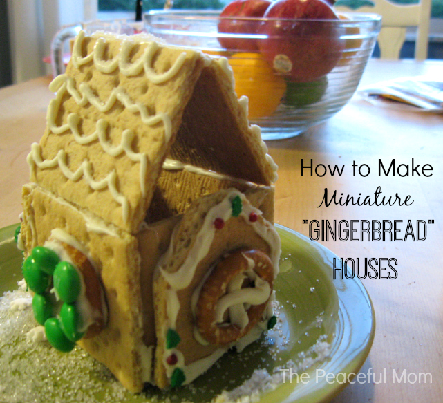 How to Make Mini Gingerbread Houses 1 - The Peaceful Mom