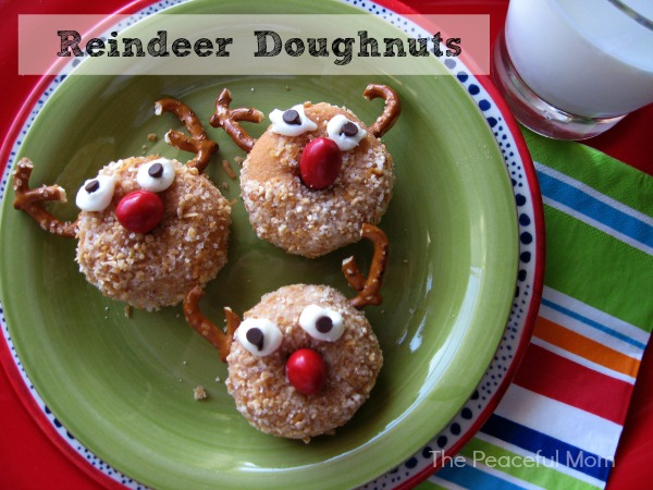 Reindeer Doughnuts - The Peaceful Mom