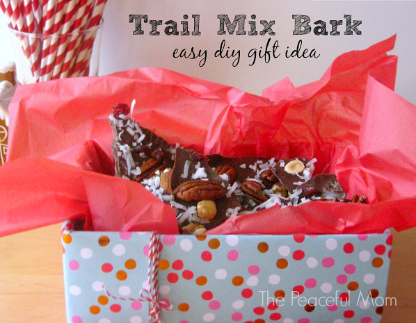 Trail Mix Bark   Easy Gift Idea From The Peaceful Mom