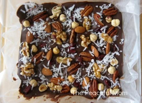 Trail Mix Bark Recipe - The Peaceful Mom