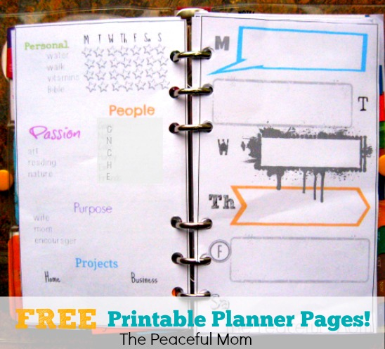 Free Printable Organizer Pages - The Peaceful Mom