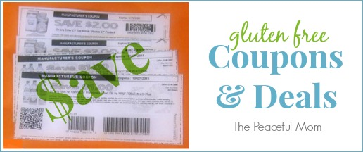Gluten Free Coupons and Deals - The Peaceful Mom