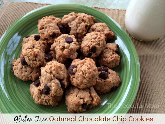 Gluten Free Oatmeal Chocolate Chip Cookies - The Peaceful Mom