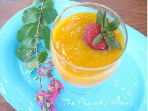 Peach Mango Smoothie from The Peaceful Mom