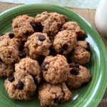 Oatmeal Dark Chocolate Cookies*