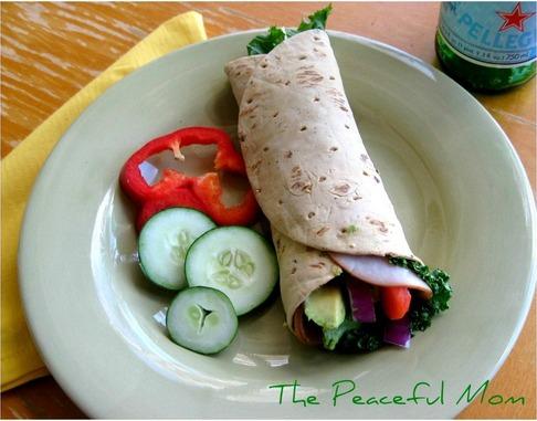 Turkey Avocado Wrap from The Peaceful Mom