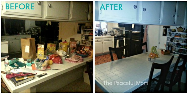 10 minutes a day spring clean organize success the - Declutter before and after ...
