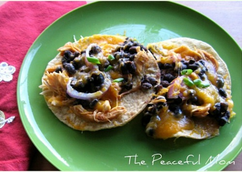 BBQ Chicken Black Bean Tostadas Recipe - The Peaceful Mom