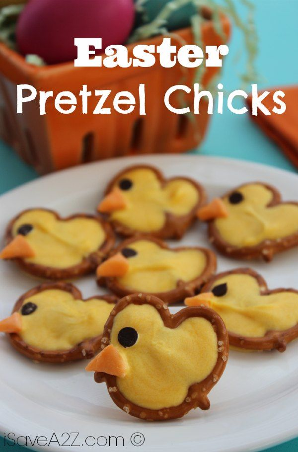 Easter Pretzel Chicks