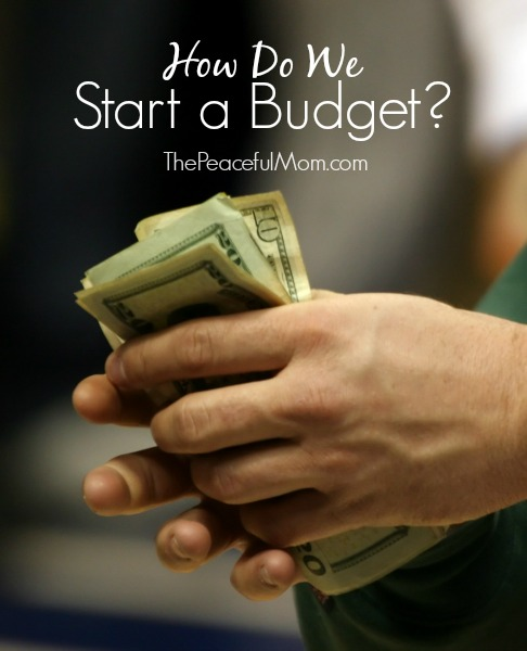 How Do We Start A Budget - The Peaceful Mom 1