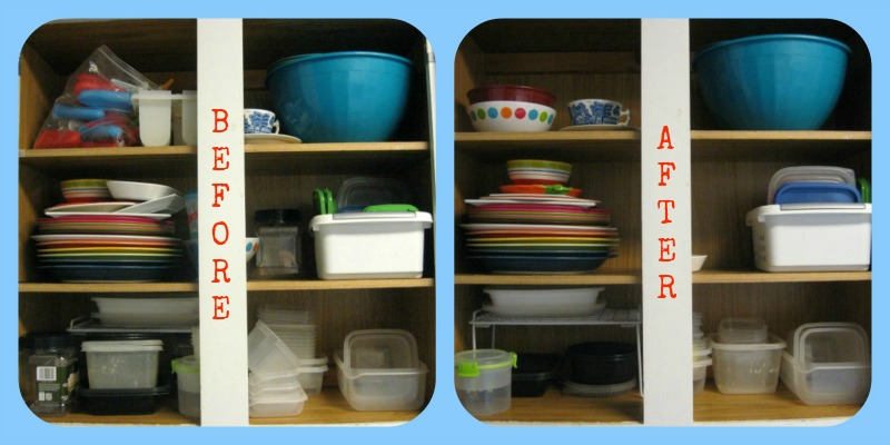 Spring Clean Cabinets before and after 2 -