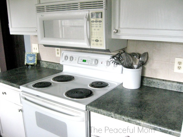 Spring Clean Clear Counters - The Peaceful Mom