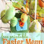 Free Easter Menu - The Peaceful Mom