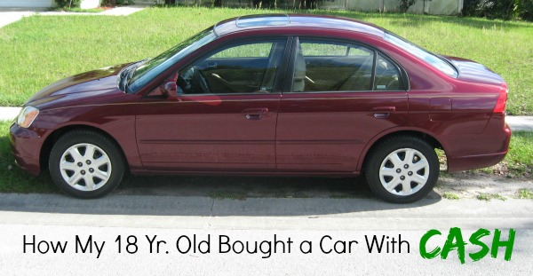 How My 18 Year Old Bought a Car with Cash - The Peaceful Mom