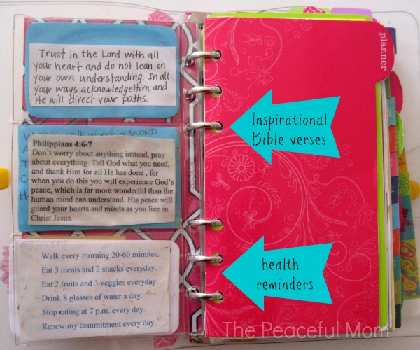 Planner Organization - Inspiration - The Peaceful Mom