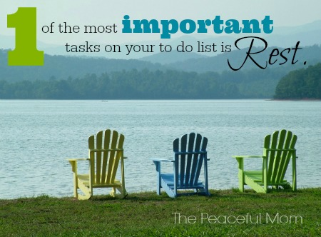 The Most Important Task On Your To Do List - The Peaceful Mom