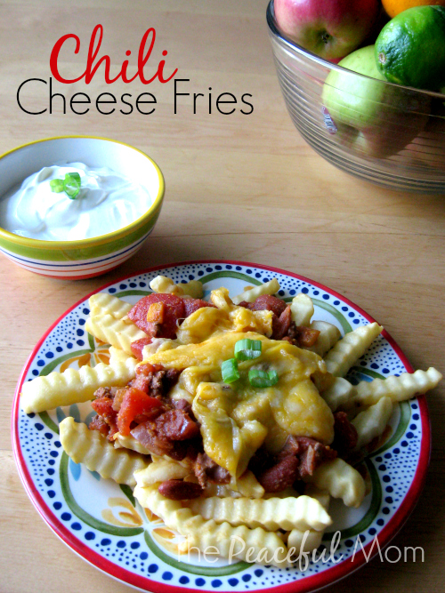 Chili Cheese Fries - The Peaceful Mom