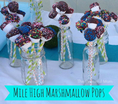 Mile High Marshmallow Pops - The Peaceful Mom