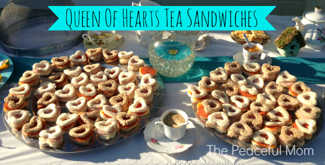 Queen of Hearts Tea Sandwiches from The Peaceful Mom