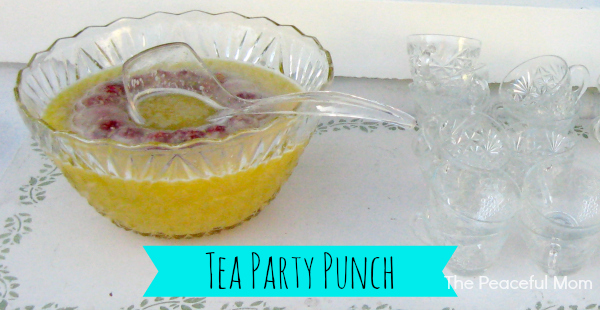 Tea Party Punch - The Peaceful Mom