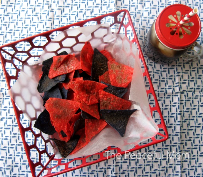 July 4th Party Food - Cinnamon Sugar Tortilla Chips 2 - The Peaceful Mom