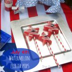 July 4th Party Food - Watermelon Freezer Pops 1 - The Peaceful Mom