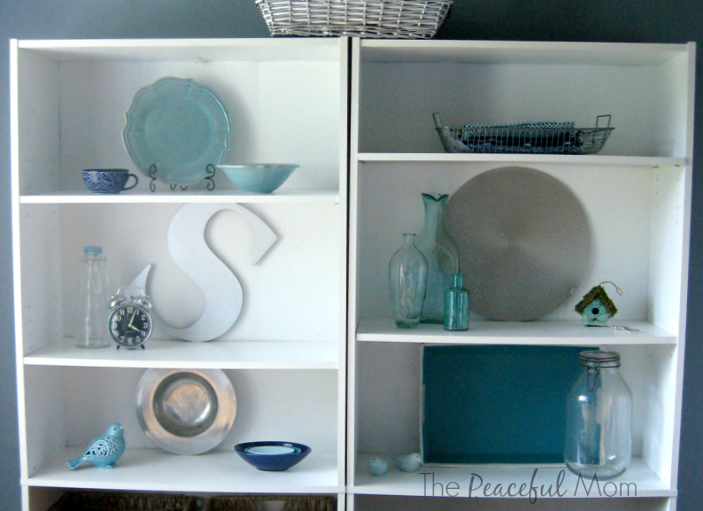Kitchen Shelves 2-June 2014-The Peaceful Mom