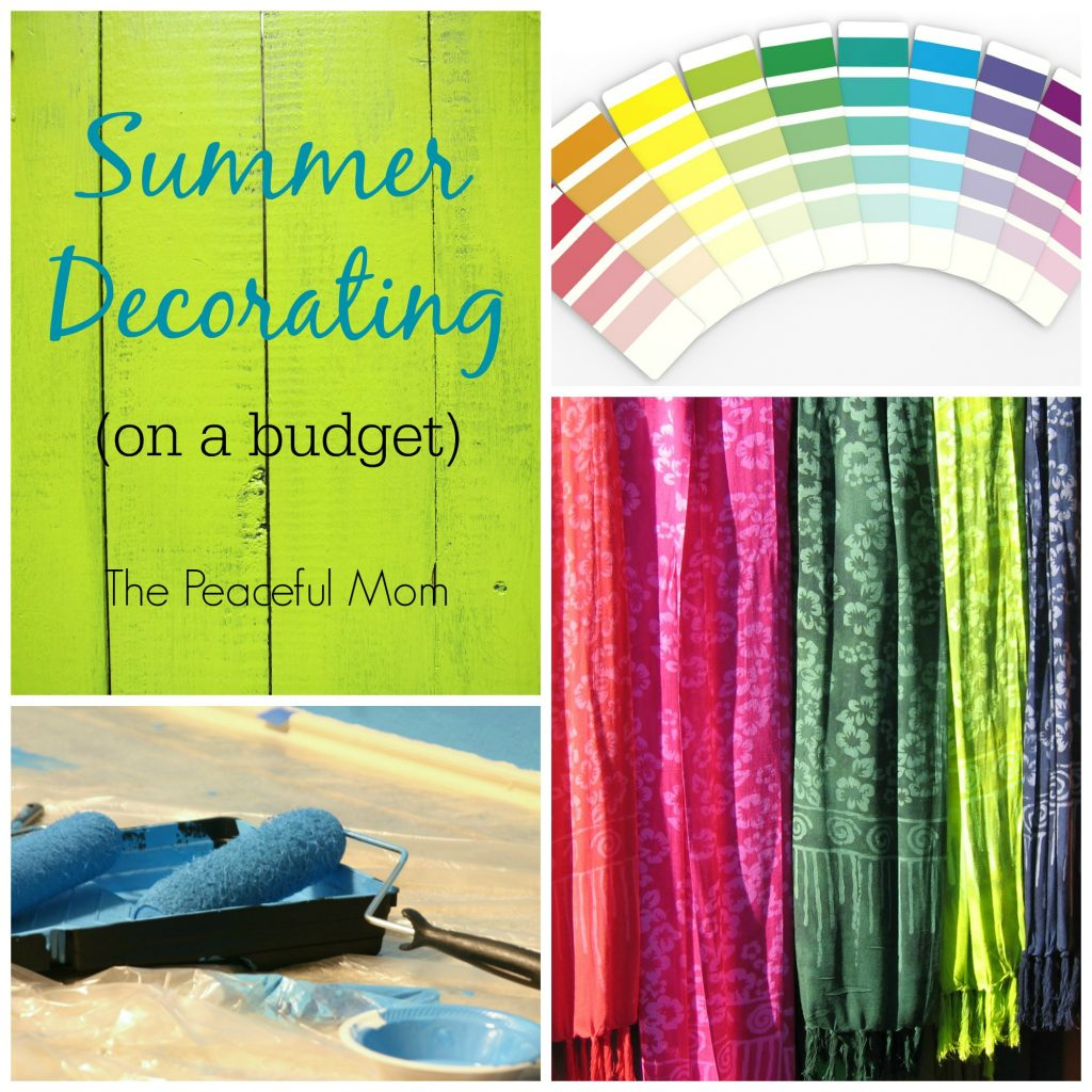 Summer Decorating on a Budget 2 - The Peaceful Mom