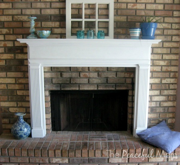 Summer Redecorating - Fireplace - The Peaceful Mom