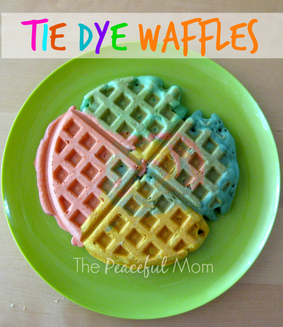 Tie Dye Waffles 1 - The Peaceful Mom